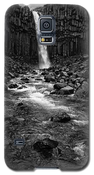 Svartifoss Waterfall In Black And White Galaxy S5 Case by IPics Photography