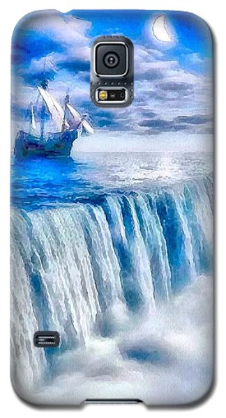 Galaxy S5 Case featuring the painting Swallow Falls by Catherine Lott