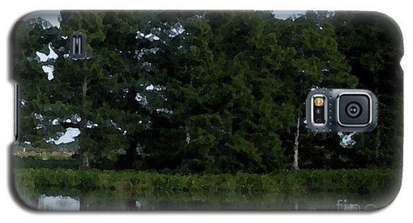 Swamp Cypress Trees Digital Oil Painting Galaxy S5 Case by Joseph Baril