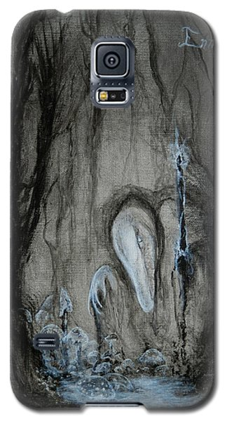 Galaxy S5 Case featuring the painting Swamp Shaman by Christophe Ennis