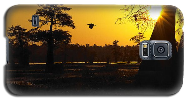 Galaxy S5 Case featuring the photograph Swamp Sunrise by Silke Brubaker