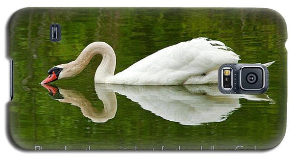 Swan Heart Bible Verse Greeting Card Original Fine Art Photograph Print As A Gift Galaxy S5 Case
