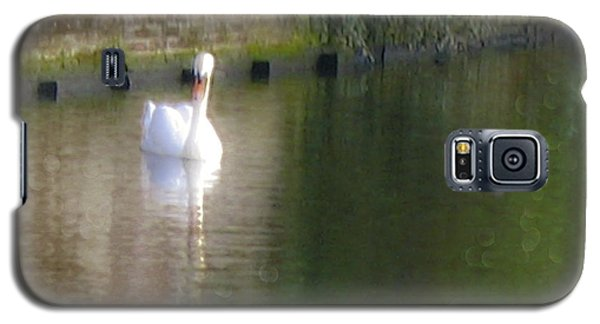 Galaxy S5 Case featuring the photograph Swan In The Canal by Victoria Harrington