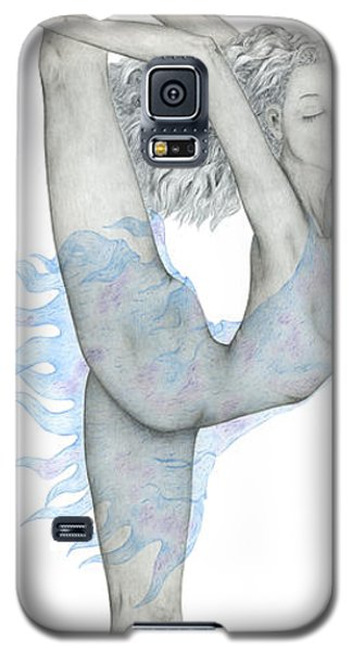 Galaxy S5 Case featuring the drawing Swan. by Kenneth Clarke