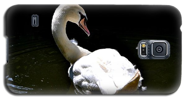Galaxy S5 Case featuring the photograph Swan Lake by Deena Stoddard
