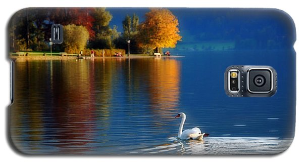 Beautiful Autumn Swan At Lake Schiliersee Germany  Galaxy S5 Case