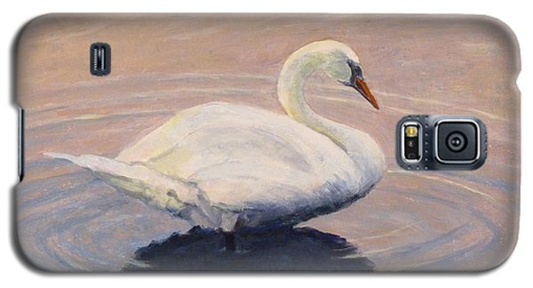 Galaxy S5 Case featuring the painting Swan Lake by Joe Bergholm