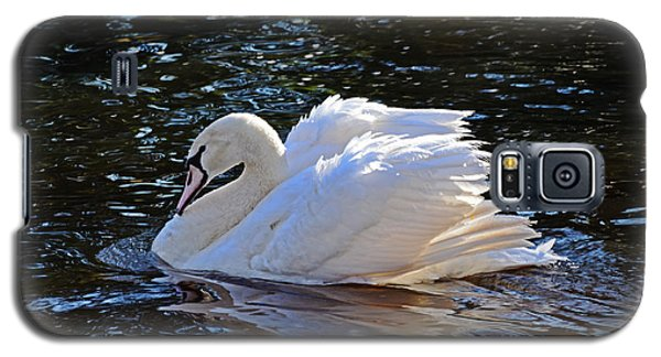 Galaxy S5 Case featuring the photograph Swan by Linda Brown