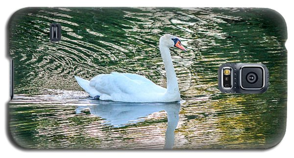 Galaxy S5 Case featuring the photograph Swan On Water  by Trace Kittrell