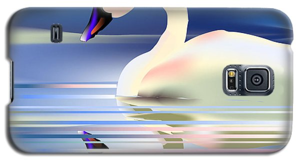 Galaxy S5 Case featuring the digital art Swan Song by Arline Wagner