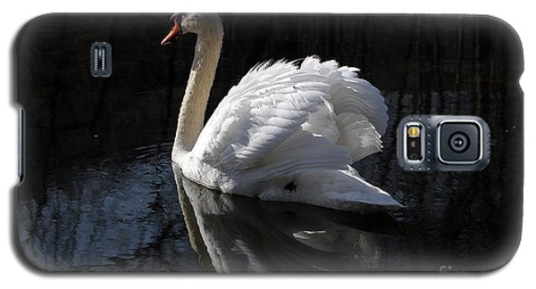 Swan With Reflection  Galaxy S5 Case by Eleanor Abramson