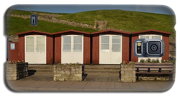 Swanage Beach Huts Galaxy S5 Case by Linsey Williams