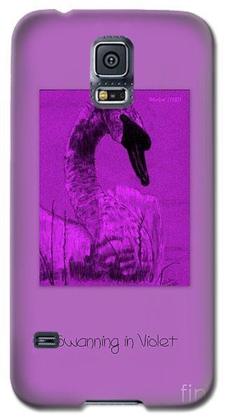 Galaxy S5 Case featuring the photograph Swanning In Violet by Linda Prewer