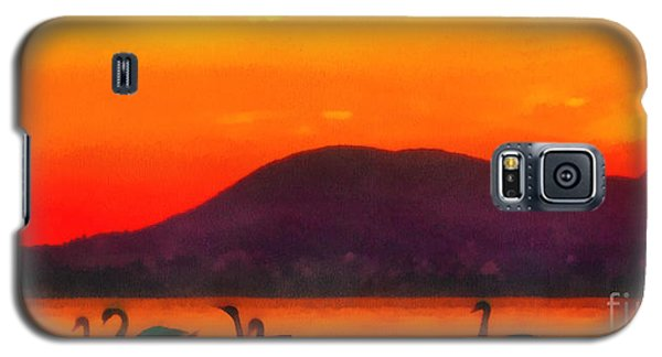 Swans In The Sunset Galaxy S5 Case by Odon Czintos