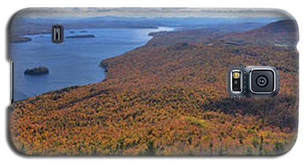 Galaxy S5 Case featuring the photograph Sweeping Fall Panorama Over Lake Memphremagog by Sebastien Coursol