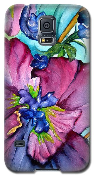 Sweet And Wild In Turquoise And Pink Galaxy S5 Case by Lil Taylor