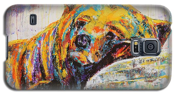 Galaxy S5 Case featuring the painting Sweet Dreams Bear by Jennifer Godshalk