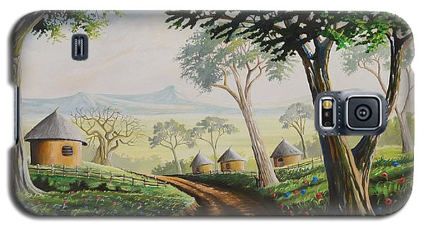 Galaxy S5 Case featuring the painting Sweet Home by Anthony Mwangi