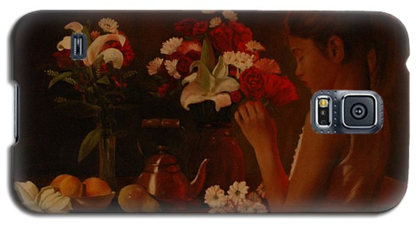 Galaxy S5 Case featuring the painting Sweet Innocence by Rick Fitzsimons