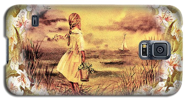 Galaxy S5 Case featuring the painting Sweet Memories A Trip To The Shore by Irina Sztukowski