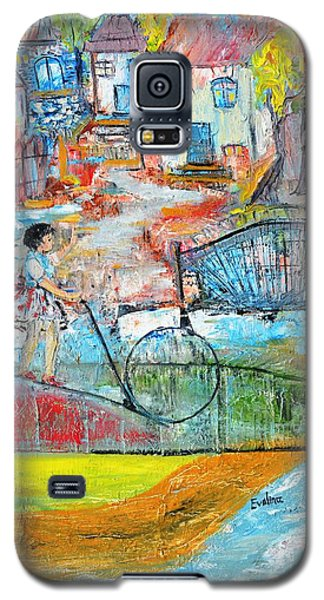 Galaxy S5 Case featuring the painting Sweet Memories by Evelina Popilian