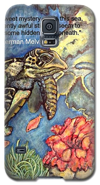 Galaxy S5 Case featuring the mixed media Sweet Mystery Of This Sea A Hawksbill Sea Turtle Coasting In The Coral Reefs 2 by Kimberlee Baxter