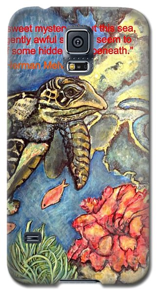 Galaxy S5 Case featuring the painting Sweet Mystery Of This Sea A Hawksbill Sea Turtle Coasting In The Coral Reefs by Kimberlee Baxter