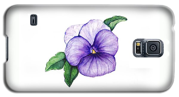Galaxy S5 Case featuring the painting Sweet Pansy by Heidi Kriel