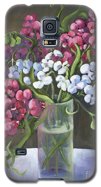 Galaxy S5 Case featuring the painting Sweet Pea by Marta Styk