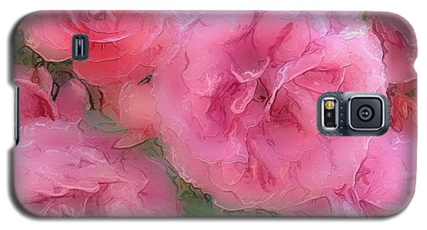 Galaxy S5 Case featuring the mixed media Sweet Pink Roses  by Gabriella Weninger - David
