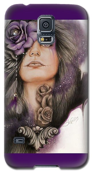 Galaxy S5 Case featuring the drawing Sweet Sorrow by Sheena Pike
