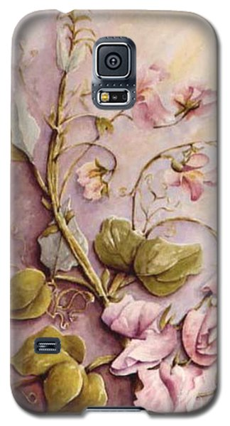 Galaxy S5 Case featuring the painting Sweet Sweet Pea by Marta Styk