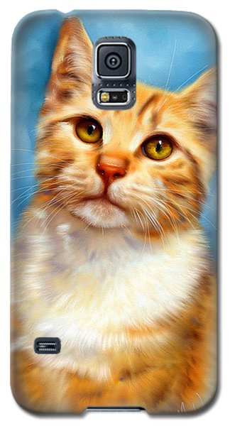 Sweet William Orange Tabby Cat Painting Galaxy S5 Case