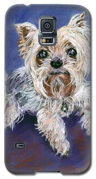 Sweet Yorkie Galaxy S5 Case by Julie Maas