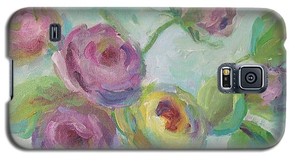 Galaxy S5 Case featuring the painting Sweetness Floral Painting by Mary Wolf
