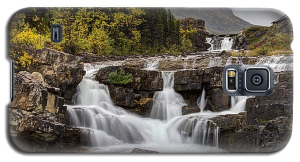 Swiftcurrent Falls In Autumn Galaxy S5 Case