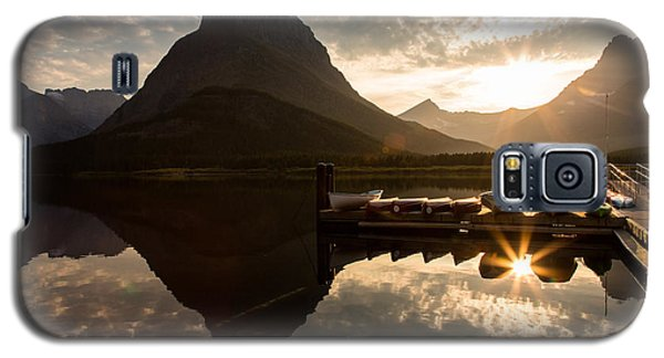 Swiftcurrent Lake Boats Reflection And Flare Galaxy S5 Case
