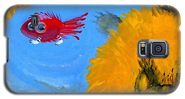 Swimming Of A Yellow Cat Galaxy S5 Case