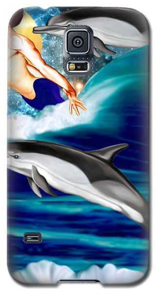 Swimming With Dolphins Galaxy S5 Case