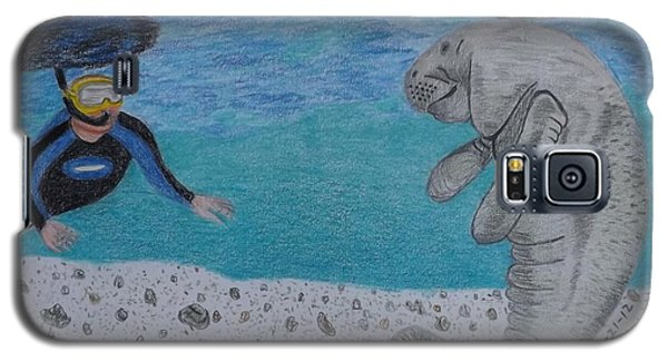 Swimming With The Manatee Galaxy S5 Case