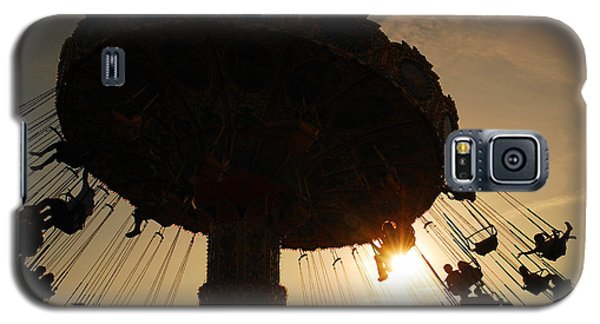 Galaxy S5 Case featuring the photograph Swing Ride At Sunset by James Kirkikis