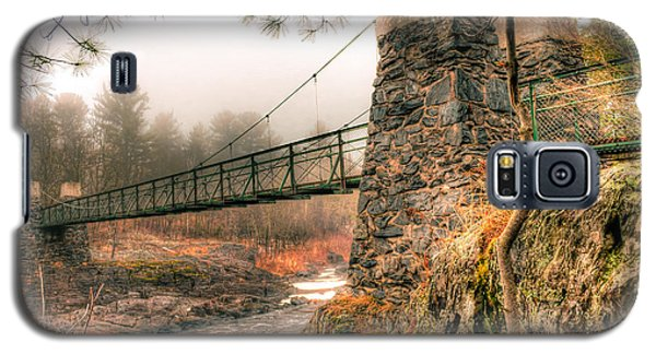 Galaxy S5 Case featuring the photograph Swinging Bridge Before The Storm by Mark David Zahn