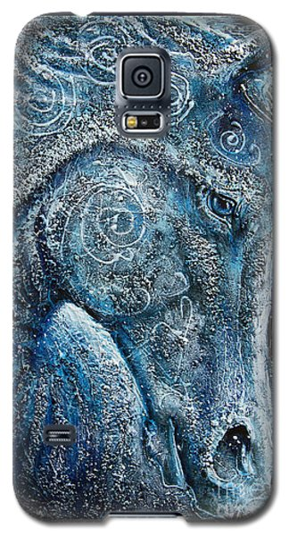 Swirling Spiraling Snow Galaxy S5 Case