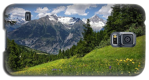 Galaxy S5 Case featuring the photograph Switzerland Bietschhorn by Annie Snel