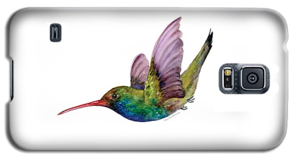 Swooping Broad Billed Hummingbird Galaxy S5 Case by Amy Kirkpatrick
