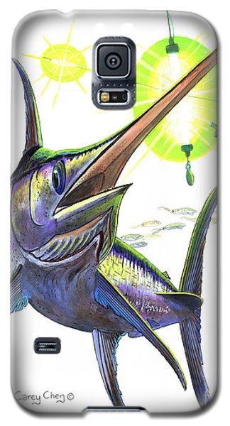 Swordfish Galaxy S5 Case - Swordfishing by Carey Chen