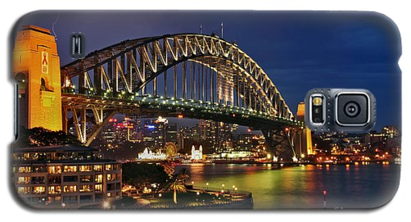 Sydney Harbour Bridge By Night Galaxy S5 Case