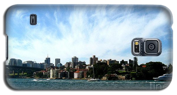 Galaxy S5 Case featuring the photograph Sydney Harbour Sky by Leanne Seymour