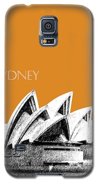 Sydney Skyline 3  Opera House - Dark Orange Galaxy S5 Case