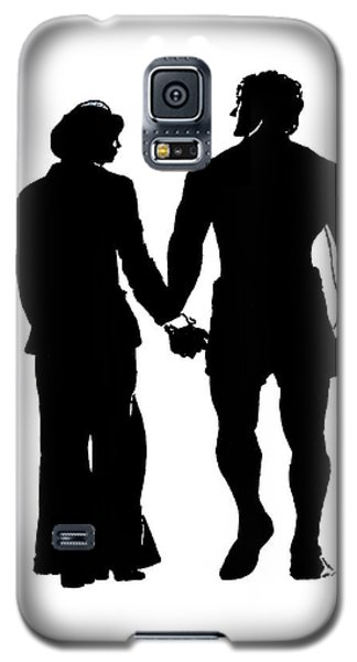 Sylvester Stallone And Talia Shire In Rocky Galaxy S5 Case by Jim Fitzpatrick